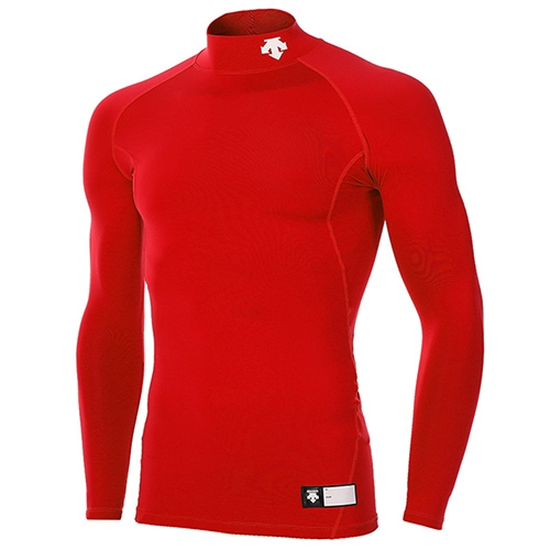 [DESCENTE]S5321ZPC02 RED0 긴팔언더셔츠(하프) (레드)