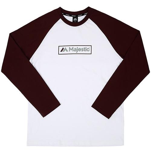 [MAJESTIC]ML173MCATS006 면 라글란 티셔츠(와인)