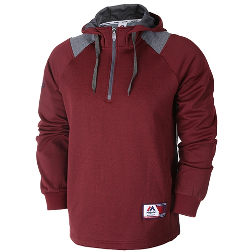 [MAJESTIC]ML153MBAMT209(와인색)어깨 배색 포인트 후드 셔츠