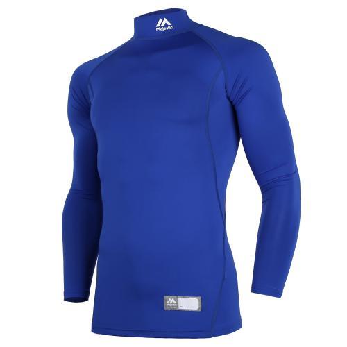 [MAJESTIC]ML172MBAIL010 어센틱 긴팔 하프넥 언더셔츠(블루)