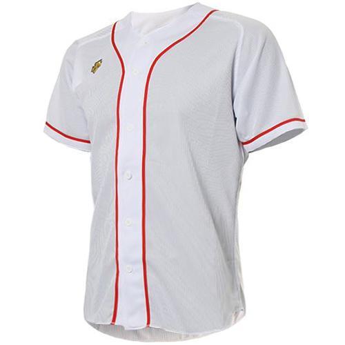 [DESCENTE]S212WLKT09 기성 유니폼 상의 (흰색/빨강)