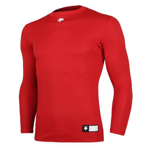 [DESCENTE]S8111WCO02 RED0 라운드 언더셔츠 레드(DOR-G8995R)