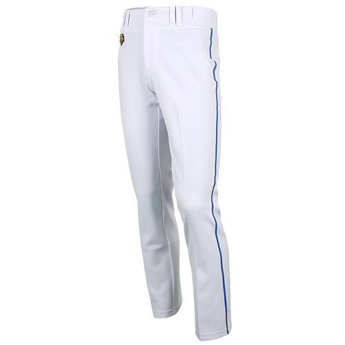 [DESCENTE]S212WLKP02 기성 유니폼 하의 청1선 (흰색/파랑)