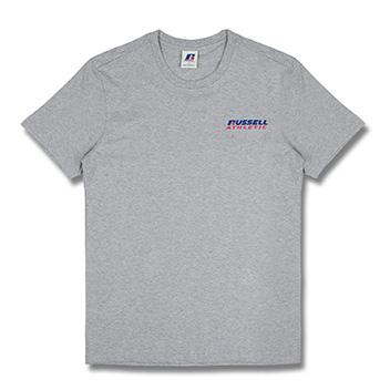 [RUSSELL]RL172MCATS004 BACK LETTERING 반팔 티셔츠(그레이)