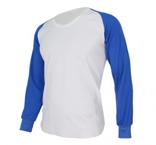 [KNB]라운드언더셔츠 (흰색/파랑)