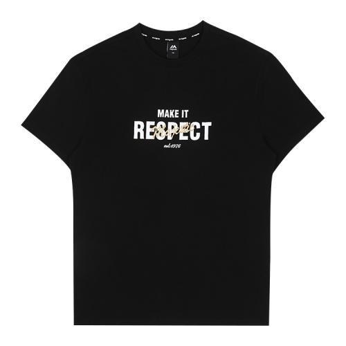 [MAJESTIC]ML182UCATS012 유니 베이직 그래픽 티셔츠 (블랙)