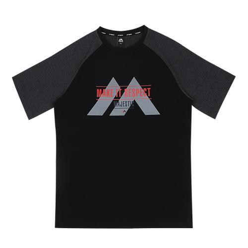 [MAJESTIC]ML182UCATS002 유니 컬러블럭 티셔츠 (블랙)