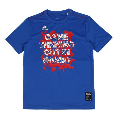 [ADIDAS]CX2250 KIDS 5T TYPO G 키즈 티셔츠 (블루)