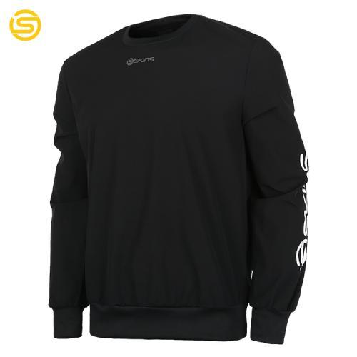 [SKINS]SL181MRAMT003 남성 우븐 빅로고 스웨트셔츠 (블랙)