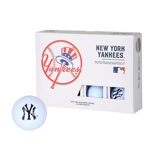[MLB]New York Yankees 2-Layer Golf Ball(12구) 흰색