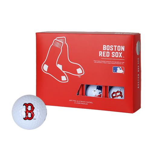 [MLB]Boston Red Sox 3-Layer Golf Ball(12구) 흰색