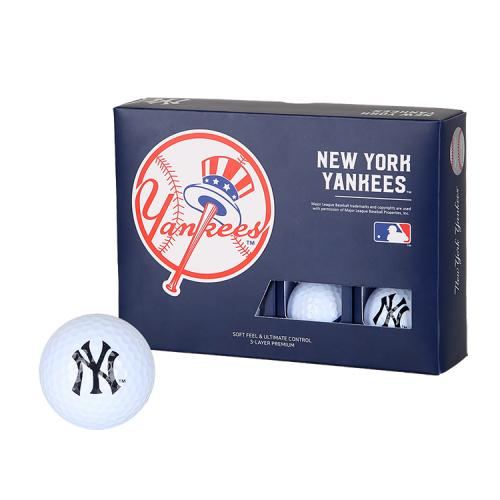 [MLB]New York Yankees 3-Layer Golf Ball(12구) 흰색