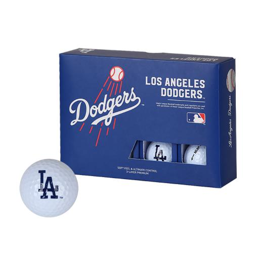[MLB]LA Dodgers 3-Layer Golf Ball(12구) 흰색
