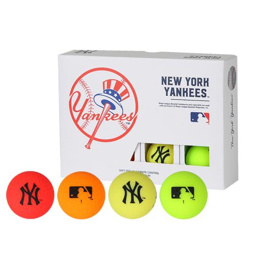 [MLB]New York Yankees 2-Layer Color Golf Ball(12구) 멀티컬러