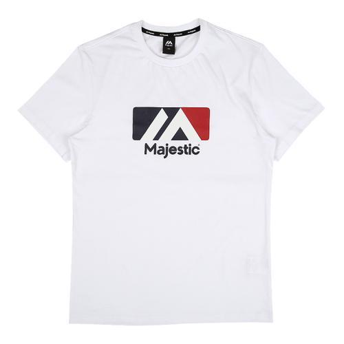 [MAJESTIC]ML182UCATS003 유니 베이직 빅로고 티셔츠 (화이트)