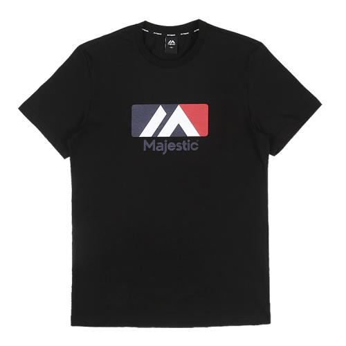[MAJESTIC]ML182UCATS004 유니 베이직 빅로고 티셔츠 (블랙)