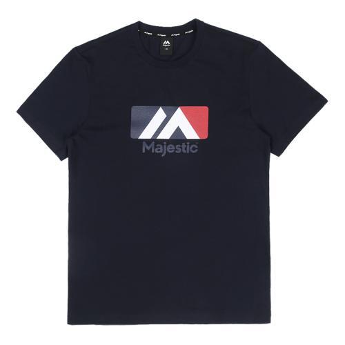[MAJESTIC]ML182UCATS006 유니 베이직 빅로고 티셔츠 (네이비)